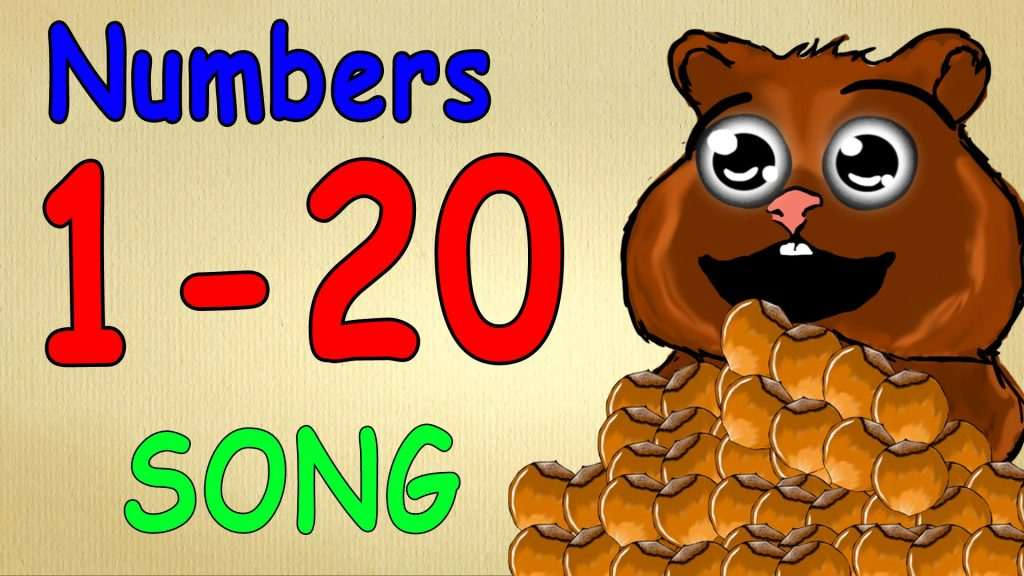 numbers song 1-20 for children - german language lessons for