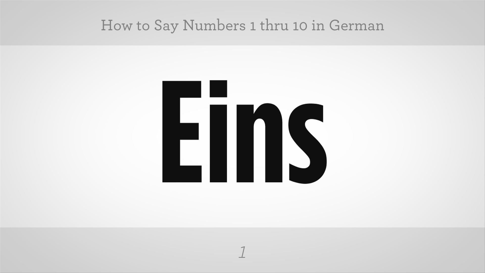 How To Say Numbers 1 Thru 10 In German German Lessons Landra Language Tactic